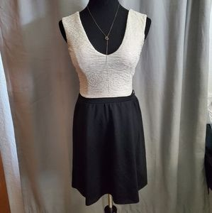 Candie's Fit and Flare Formal Dress Black & White